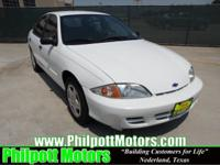 Options Included: N/A2001 Chevy Cavalier LS, white with