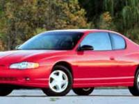 Come see this 2001 Chevrolet Monte Carlo SS. Its