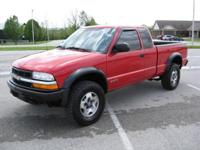 Options Included: N/A2001 Chevy S10 Ext Cab ZR2 4x4 -