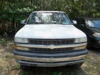 Options:  2001 Chevrolet Silverado 1500 |White|Stock