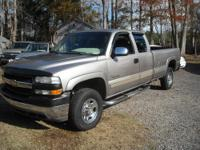 2001 CHEVROLET SILVERADO PICKUP 2500 EXT CAB LWB WITH