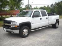 Options Included: 2001 Chev Silverado 3500 4X4, One Ton