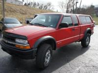 2001 Chevy S10 Extended Cab ZR2 4x4, Three Door