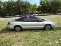 2001 Chrysler Sebring LX Convertible Sellers Notes COME