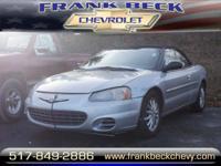 Options:  2001 Chrysler Sebring Lxi|Lxi 2Dr
