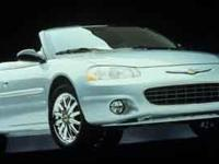 This outstanding example of a 2001 Chrysler Sebring LXi