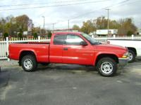 Options Included: N/A2001 DODGE DAKOTA, RED, EXTENDED