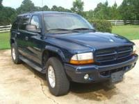 Needs engine work - 2001 Durango seats six. Miles 195K,