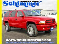 Used 2001 Dodge Durango SLT 4X4 in stock at Schimmer