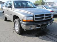 Options Included: N/A2001 DODGE DURANGO. RUNS AND DRIVE