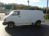2001 DODGE RAM 1500 CARGO VAN WITH CAGE, LOW MILES!
