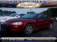 Options:  2001 Dodge Stratus Se|Se 4Dr Sedan|2.7L|6