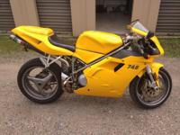 2001 Ducati 748 biposto 10,000 miles, never been down,