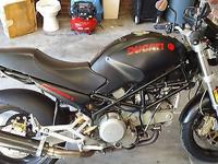 Ducati Monster 750 Dark. This bike belonged to a friend