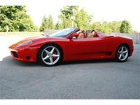 This 2001 Ferrari 360 Spider is finished in classic