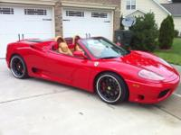 This 2001 Ferrari 360 Spider with Red and Tan Leather