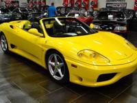 This 2001 Ferrari 360 Modena - features a 3.6L V8 FI