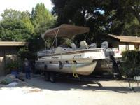 Mercury 60 horse / 4-stroke / trailer w/front boarding