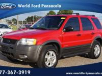 World Ford Pensacola presents this 2001 FORD ESCAPE 4DR