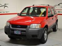 2001 Ford Escape XLS 4WD Torch Red on Grey interior