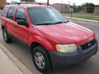 Im selling my 2001 Ford Escape XLS 4X4 for $4,500. It