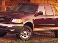 Clean CARFAX. RED 2001 Ford F-150 Lariat 4WD 4-Speed