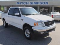This is a very nice 2001 Ford F-150 XLT SuperCrew 4x4