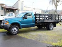 #5822:  This 2001 Ford F550 12 ft. flatbed has