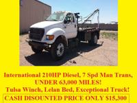 2001 FORD F750 - - - - ONLY 62,000 ACTUAL MILES!  7.3
