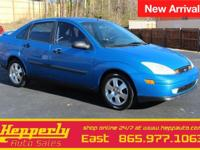 Clean CARFAX. This 2001 Ford Focus SE in Malibu Blue