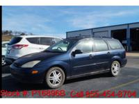 Clean CARFAX.  2001 Ford Focus SE in Twilight Blue