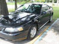 Nice 2001 ford mustang offered. coupe, v6 automatic,
