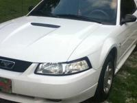 White 2001 Ford Mustang for sale by owner. Has been