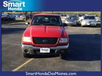 Smart Honda Is Excited To Offer This 2001 Ford Ranger.