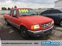 Bright Red Clearcoat 2001 Ford Ranger XLT AM/FM radio,