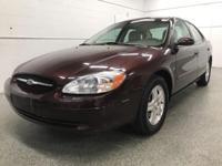 Options:  2001 Ford Taurus Sel|Brown|Recent Arrival!