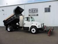 Dump Truck With 10' Snow Plow Dual Fuel Manual