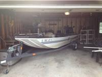 2001 G3 17ft Bass Boat, 60hp 4 stroke Yamaha motor with