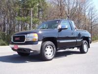 Options Included: 2001 GMC Sierra SLE Z71 regular cab.