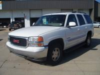 Options Included: N/A2001 GMC Yukon SLT 4x4,white/tan