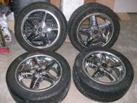 "SET OF 4 PONTIAC GRAND AM GT WHEELS, 16"" TIRES ARE"
