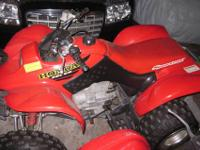 2001 HONDA 250EX SPORTRAX FOUR WHEELER RED 4X4 250CC