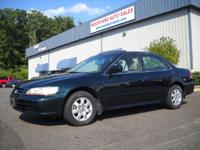 Options Included: 2001 Honda Accord EX Sedan Power