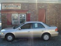 Options Included: N/A2001 HONDA ACCORD LX, WITH ONLY