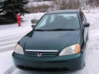 Year: 2001 Make: Honda Model: Civic Trim: GX Engine: