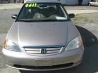 This is a 2001 Honda Civic LX 4 door in great