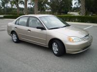 -2001 Honda Civic LX, Auto. 4 Dr Sedan. -LOW miles at