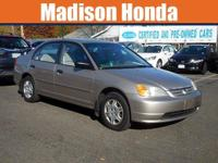 2001 HONDA CIVIC / LOOK @ CARFAX One-Owner. 2001 Honda