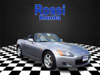 The anti-lock brakes of this 2001 Honda S2000 Base make
