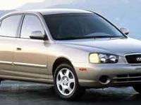 Come see this capable 2001 HYUNDAI ELANTRA GLS.